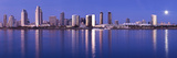Moonrise over a City, San Diego, California, USA 2010 Photographic Print by  Panoramic Images