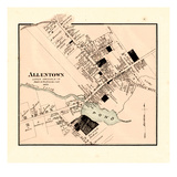 1873, Allentown, New Jersey, United States Giclee Print