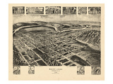 1906, Mount Union Bird's Eye View, Pennsylvania, United States Giclee Print