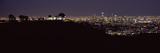 City Lit Up at Night, Griffith Park Observatory, Los Angeles, California, USA 2010 Photographic Print by  Panoramic Images
