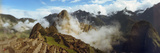 Ruins of Buildings at an Archaeological Site, Inca Ruins, Machu Picchu, Cusco Region, Peru Fotografie-Druck von  Panoramic Images