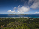 Island View of La Passe from Nid D' Aigle Peak, La Digue Island, Seychelles Photographic Print by  Green Light Collection
