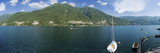 Sailboat in a Lake, Lake Como, Como, Lombardy, Italy Photographic Print by  Panoramic Images