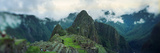 High Angle View of an Archaeological Site, Inca Ruins, Machu Picchu, Cusco Region, Peru Reprodukcja zdjęcia autor Panoramic Images