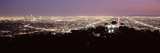Aerial View of a Cityscape, Griffith Park Observatory, Los Angeles, California, USA 2010 Fotodruck von  Panoramic Images