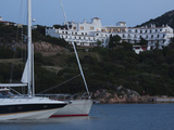 Yachts with a Hotel in the Background, Hotel Luci Di La Muntagna, Porto Cervo, Costa Smeralda, S... Photographic Print by  Green Light Collection