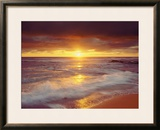 Sunset Cliffs Beach on the Pacific Ocean at Sunset, San Diego, California, USA Framed Photographic Print by Christopher Talbot Frank