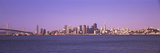Bridge with City Skyline in the Background, Bay Bridge, San Francisco Bay, San Francisco, Califo... Photographic Print by  Panoramic Images