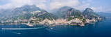 Aerial View of Towns, Amalfi, Atrani, Amalfi Coast, Salerno, Campania, Italy Photographic Print by  Panoramic Images