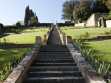 Staircase in a Garden, Giardino Bardini, Florence, Tuscany, Italy Photographic Print by  Panoramic Images