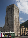Medieval Tower in a City, Como, Lakes Region, Lombardy, Italy Photographic Print by Green Light Collection