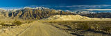 Panoramic Images - Sand Dunes in Front of a Mountain Range, Eureka Valley Sand Dunes, Eureka Valley, Inyo County, C... - Fotografik Baskı