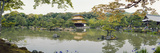 Pond in Front of a Temple, Kinkaku-Ji Temple, Kyoto City, Kyoto Prefecture, Kinki Region, Honshu... Photographic Print by  Panoramic Images