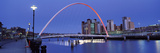 Bridge across a River, Gateshead Millennium Bridge, Tyne River, Newcastle-Upon-Tyne, Tyne and We... Photographic Print by  Panoramic Images
