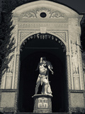 Statue of Hercules and Lica in a Garden, Grand Hotel Villa D'Este, Cernobbio, Lake Como, Lakes R... Photographic Print by Green Light Collection
