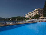 Swimming Pool in a Hotel, Grand Hotel Villa D&#39;Este, Cernobbio, Lake Como, Lakes Region, Lombardy... Photographic Print by  Green Light Collection