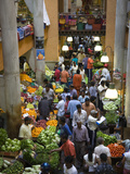 People Shopping in a Vegetable Market, Central Market, Port Louis, Mauritius Photographic Print by Green Light Collection