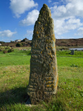 Ogham Standing Stone, Displaying Early Irish Writing, at Bunmahonthe Copper Coast Geopark,County... Photographic Print