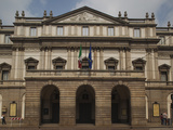 Facade of an Opera House, La Scala, Milan, Lombardy, Italy Photographic Print by Green Light Collection