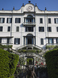 Facade of a Building, Villa Carlotta, Tremezzo, Lake Como, Lakes Region, Lombardy, Italy Photographic Print by  Green Light Collection