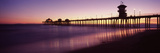 Pier in the Sea, Huntington Beach Pier, Huntington Beach, Orange County, California, USA Photographic Print by  Panoramic Images