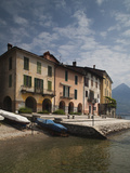 House at the Lakeside, Santa Maria Rezzonico, Lake Como, Lakes Region, Lombardy, Italy Photographic Print by  Green Light Collection