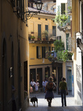 Tourists in a Town, Bellagio, Lakes Region, Lombardy, Italy Photographic Print by  Green Light Collection