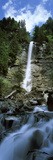 Waterfall in a Forest, Tatschbachfall, Engelberg, Obwalden Canton, Switzerland Photographic Print by  Panoramic Images