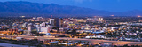 City Lit Up at Dusk, Tucson, Pima County, Arizona, USA 2010 Photographic Print by  Panoramic Images