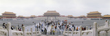 Tourists in a Courtyard, Forbidden City, Beijing, China Photographic Print by  Panoramic Images