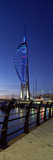 Tower at Night, Spinnaker Tower, Gunwharf Quays, Portsmouth Harbour, Portsmouth, Hampshire, England Photographic Print by  Panoramic Images