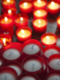 Votive Candles in a Cathedral, Como Cathedral, Como, Lakes Region, Lombardy, Italy Photographic Print by  Green Light Collection
