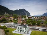 Miniature Switzerland Model Theme Park, Swissminiatur, Melide, Lake Lugano, Ticino, Switzerland Photographic Print by Green Light Collection