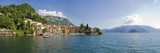 Town at the Lakeside, Lake Como, Como, Lombardy, Italy Photographic Print by  Panoramic Images