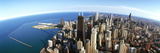 Aerial View of a City, Chicago, Cook County, Illinois, USA 2010 Photographic Print by  Panoramic Images