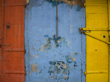 Detail of a Weathered Wall in a Flower Market, Port Louis, Mauritius Photographic Print by  Green Light Collection