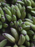 Close-Up of Bananas in a Market, St. Paul, Reunion Island Lámina fotográfica por Green Light Collection
