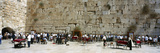 Crowd Praying in Front of a Stone Wall, Wailing Wall, Jerusalem, Israel Reproduction photographique par  Panoramic Images
