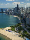 Aerial View of a City, Lake Michigan, Chicago, Cook County, Illinois, USA 2010 Photographic Print by Green Light Collection