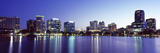 Buildings Lit Up at Night in a City, Lake Eola, Orlando, Orange County, Florida, USA 2010 Photographic Print by  Panoramic Images
