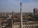 High Angle View of a City from Cathedral Roof, Milan Cathedral, Piazza Del Duomo, Milan, Lombard... Photographic Print by Green Light Collection
