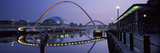 Bridge across a River, Gateshead Millennium Bridge, Sage Gateshead, Tyne Bridge, Tyne River, New... Photographic Print by  Panoramic Images
