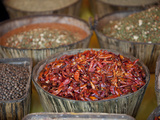Spices at a Market Stall, Milan, Lombardy, Italy Photographic Print by  Panoramic Images