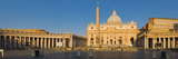 Sunlight Falling on a Basilica, St. Peter&#39;s Basilica, St. Peter&#39;s Square, Vatican City, Rome, La... Photographic Print by Panoramic Images 