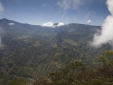 Mountain Range Viewed from La Fenetre, Cirque De Cilaos, Reunion Island Photographic Print by Green Light Collection