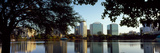 Buildings at the Waterfront, Lake Eola, Orlando, Orange County, Florida, USA Photographic Print by  Panoramic Images