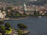City at the Waterfront, Como, Lake Como, Lakes Region, Lombardy, Italy Photographic Print by Green Light Collection