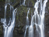 Water Falling Through Rocks, Cascade De La Grand Ravine, Reunion Island Photographic Print by Green Light Collection