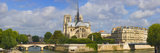Cathedral at the Riverside, Notre Dame Cathedral, Seine River, Paris, Ile-De-France, France Photographic Print by  Panoramic Images