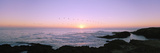 Sunset over the Ocean with Flock of Birds, Mendocino, Mendocino County, California, USA Photographie par Panoramic Images